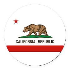 California State Flag Round Car Magnet