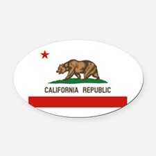 California State Flag Oval Car Magnet