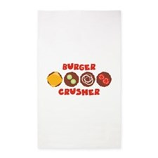 BURGER CRUSHER 3'x5' Area Rug