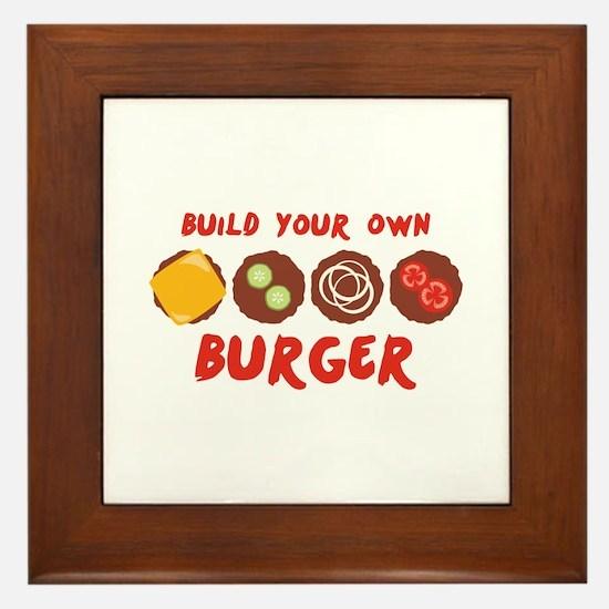 Build Your Own BURGER Framed Tile