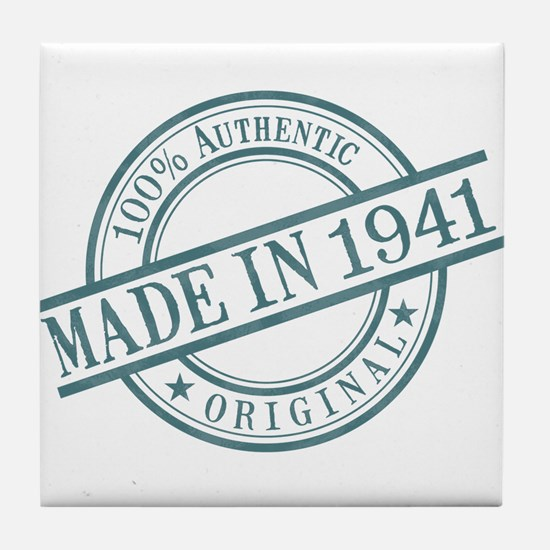 Made in 1941 Tile Coaster