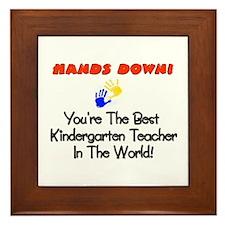 Funny Kindergarten teacher Framed Tile