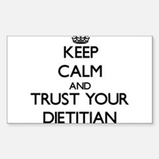 Keep Calm and Trust Your Dietitian Decal