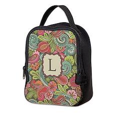Paisley Cyngalese Monogram Neoprene Lunch Bag