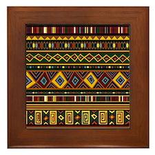Southwest Weave Framed Tile