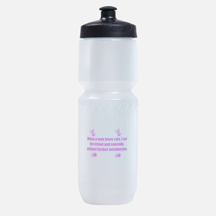 clever quote about cats. Sports Bottle