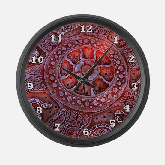 Medicine Wheel Totems Large Wall Clock