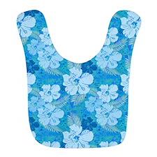 Hibiscus Blue Batik Bib