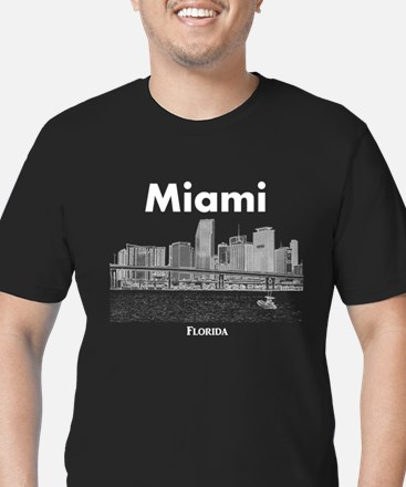 Miami Men's Fitted T-Shirt (dark)