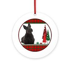 Scottie Christmas Ornament (Round)