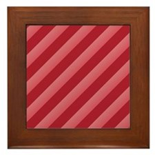 Strawberry Stripes Framed Tile