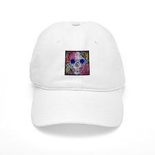 flower power skull Baseball Cap