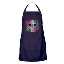 flower power skull Apron (dark)