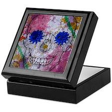 flower power skull Keepsake Box