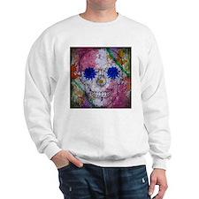 flower power skull Sweatshirt