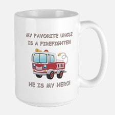 MY FAVORITE UNCLE IS A FIREFIGHTER Large Mug