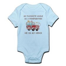 MY FAVORITE UNCLE IS A FIREFIGHTER Infant Bodysuit