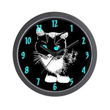 Blue Eyed Cat Wall Clock