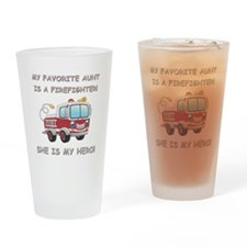 MY FAVORITE AUNT IS A FIREFIGHTER Drinking Glass