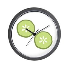 Pickle Slices Wall Clock