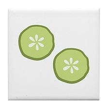 Pickle Slices Tile Coaster