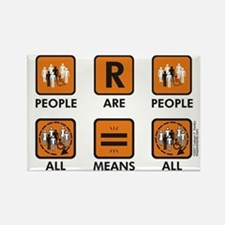 People Are People Rectangle Magnet
