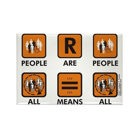 People Are People Rectangle Magnet (100 pack)