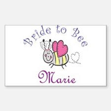 Marie Bride to Bee Rectangle Decal