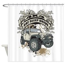 Eat Sleep Drive 4x4 Shower Curtain