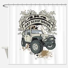 Eat Sleep Drive 4x4 Shower Curtain