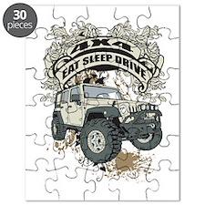 Eat Sleep Drive 4x4 Puzzle