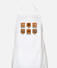 People Are People BBQ Apron