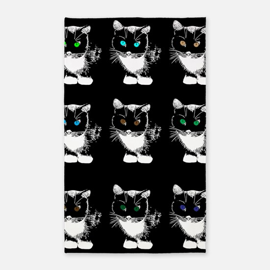 Bright Eyed Cats 3'x5' Area Rug