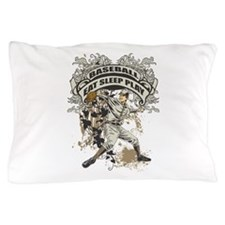 Eat Sleep Play Baseball Pillow Case