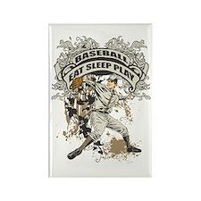 Eat Sleep Play Baseball Rectangle Magnet
