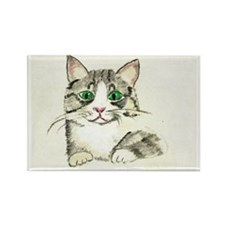 Gray Tabby Kitten Magnets