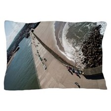 Whitby west pier Pillow Case