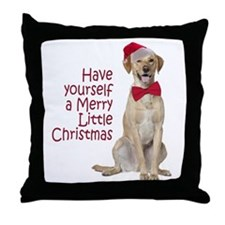 Santa Lab Throw Pillow