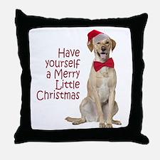 Santa Lab Throw Pillow