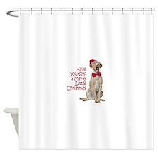 Santa Lab Shower Curtain