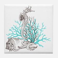 Aqua Under the Sea Tile Coaster