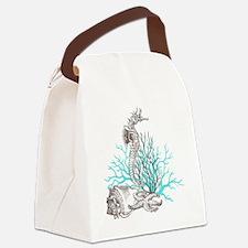 Aqua Under the Sea Canvas Lunch Bag