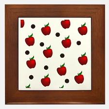 Apple rain pattern Framed Tile