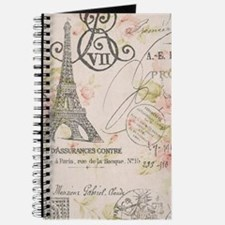 modern vintage floral paris fashion art Journal