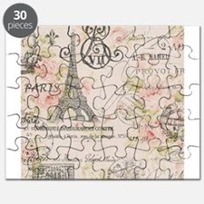 modern vintage floral paris fashion art Puzzle