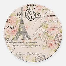 modern vintage floral paris fashion art Round Car