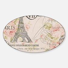 modern vintage floral paris fashion art Decal