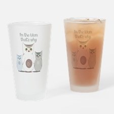 I'm the Mom Cute Owls  Drinking Glass