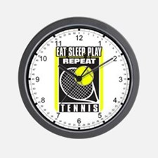 Eat Sleep Play Repeat Tennis Wall Clock