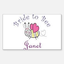 Janet Bride toBee Rectangle Decal